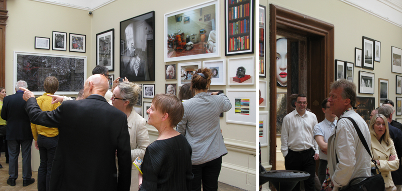 Two views of the Photography room in RA summer exhibition