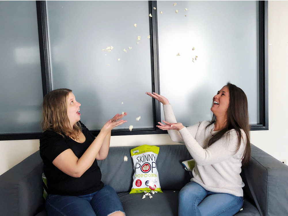 how to stay healthy and active skinnypop popcorn