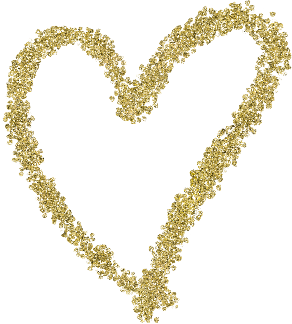 Gold Glitter Heart 11.png