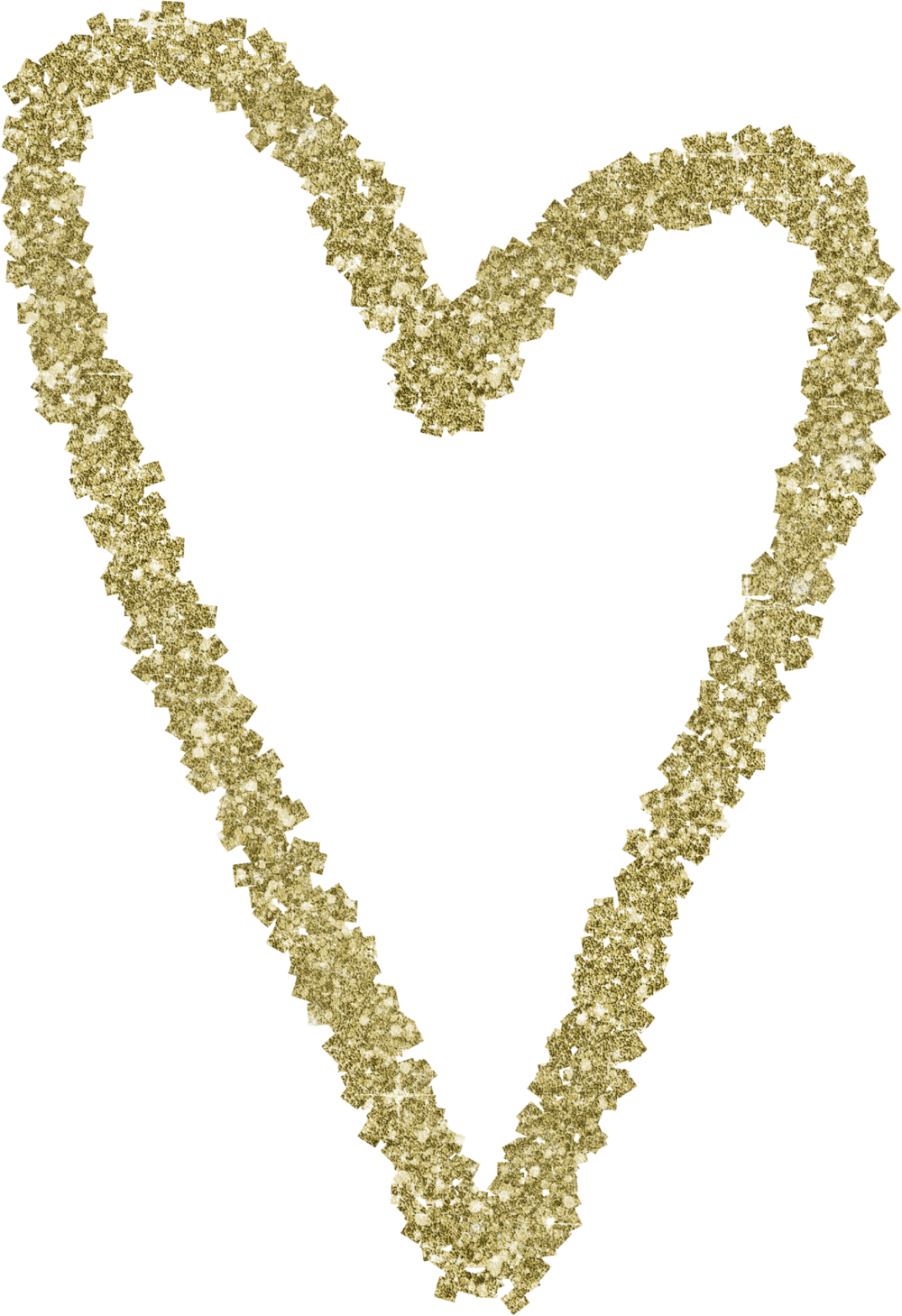 Gold Glitter Heart 7.png