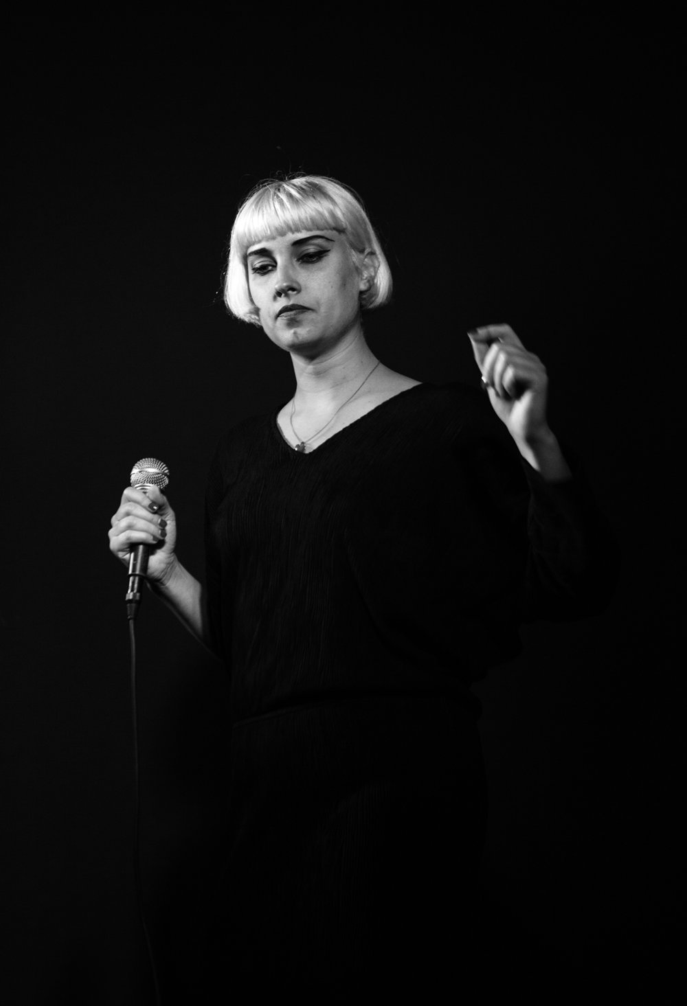 Molly Nilsson  performing at DE14, photograph by  Mark McGuinness