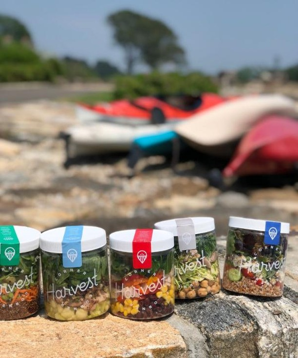 Our Saturday plans? Kayaking with a side of Corner Harvest! #howiharvest