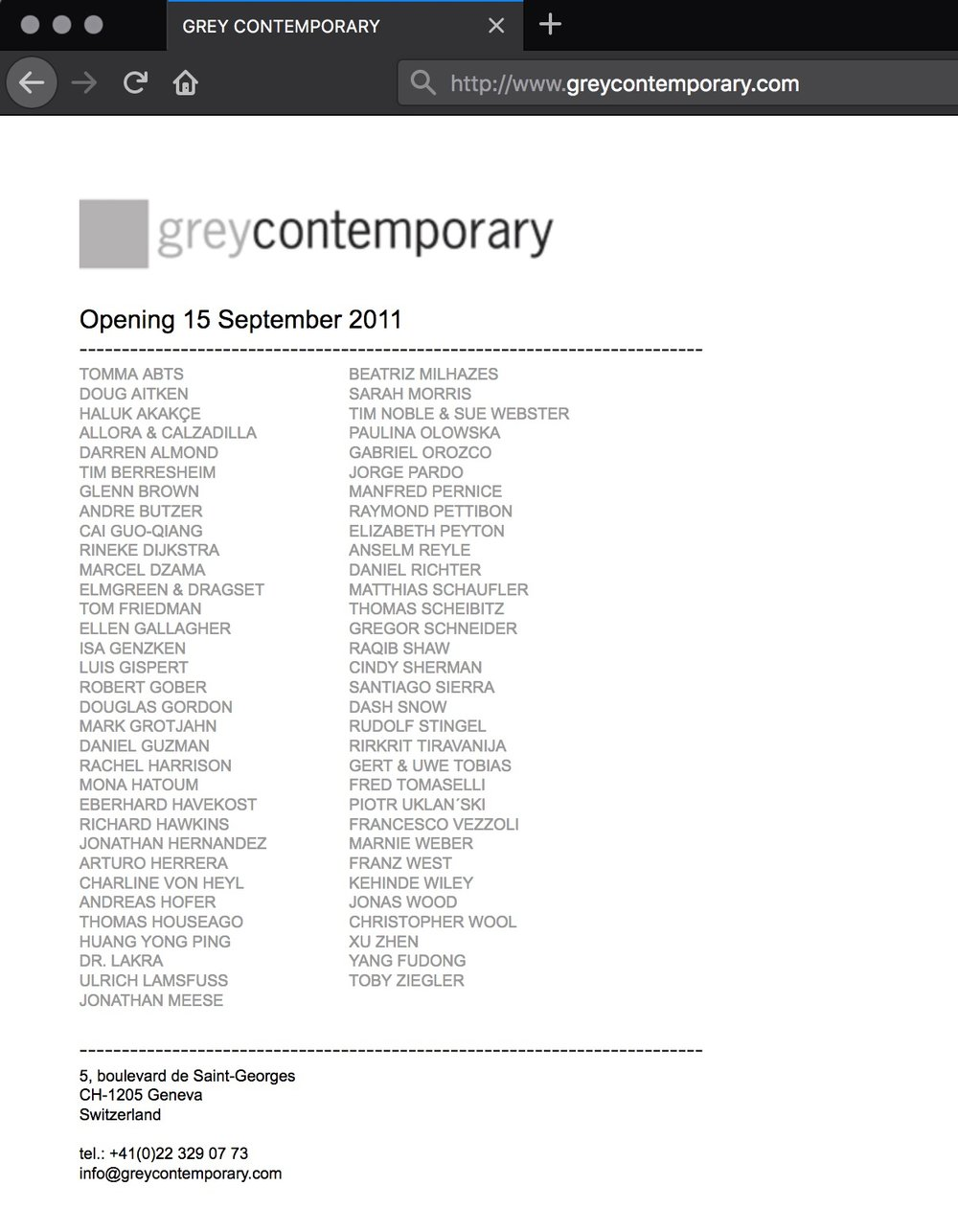 2011 Performance  Grey contemporary's homepage