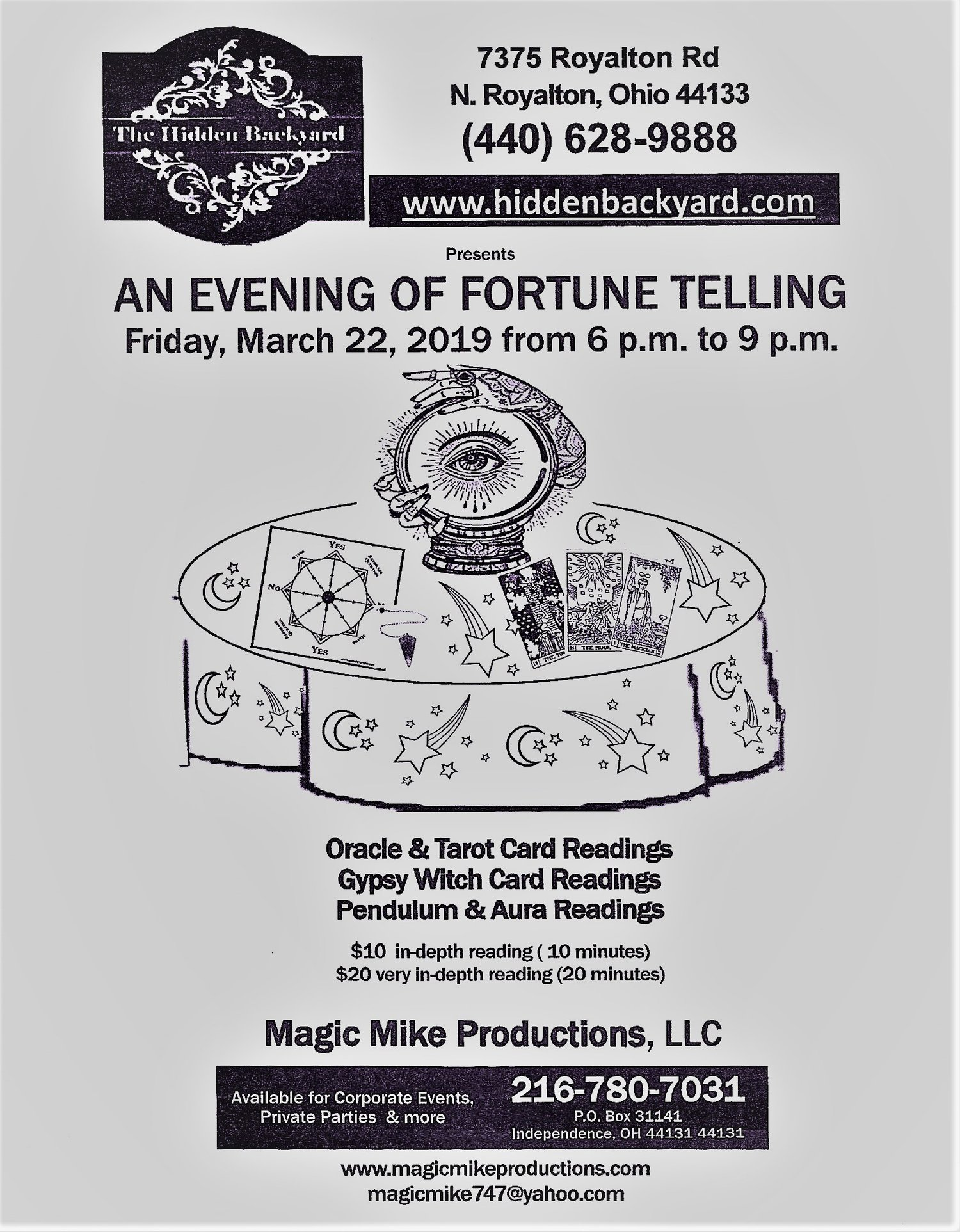 An Evening of Fortune Telling — Magic MIke Productions