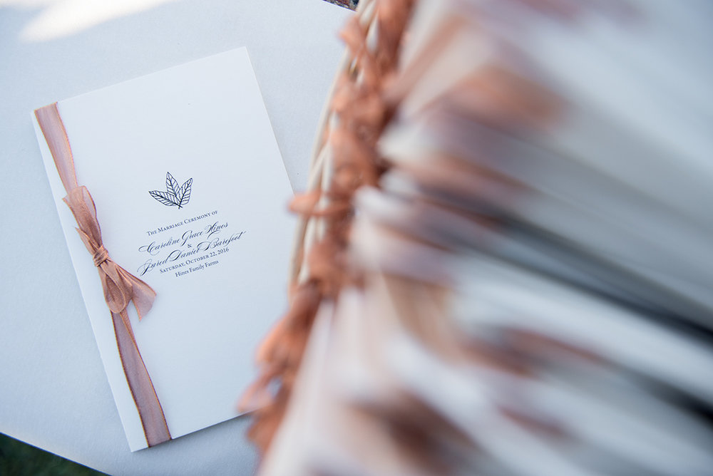 Caroline's custom tobacco leaf emblem was incorporated throughout the event.