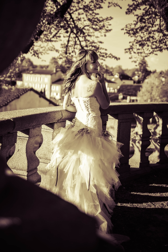 Photo de mariage sepia