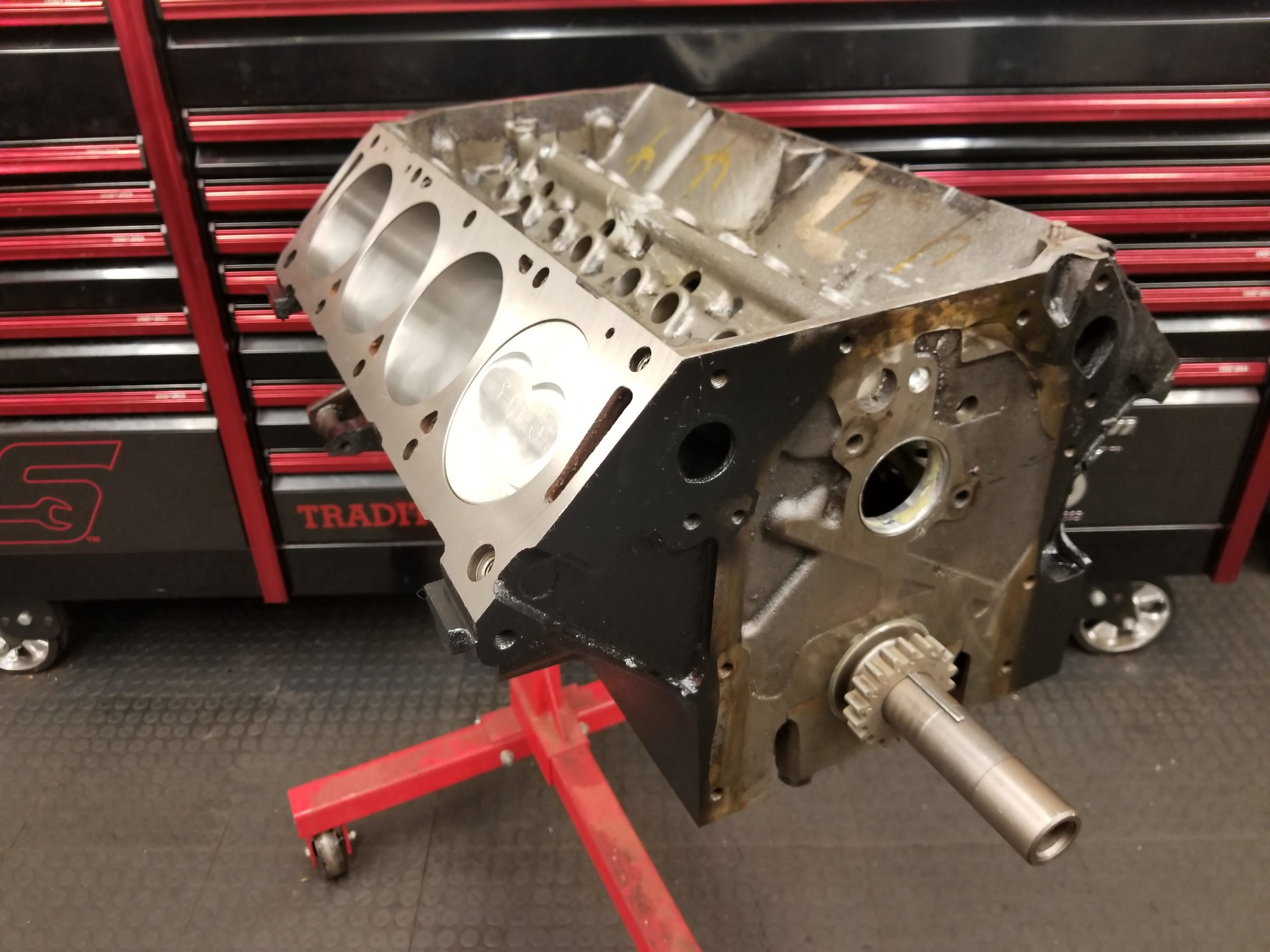 Ford FE 445 Stroker Short Block (New Block — Wolverine Engines