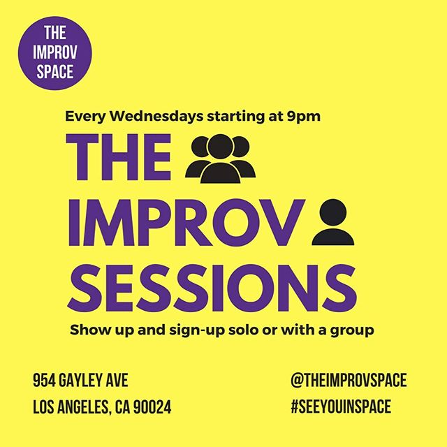 Tonight it's The Improv Sessions! An open show with an open door. Every Wednesday, show up and sign up solo or with a group. Get ten minutes to show what you can do, get those reps in, try something new, or just get weird. Good weird and all that Jazz. Hosted by Ben Crutcher. . . . . . . . . . . #laughing #losangeles #westside #westwood #improv  #comedyclub #comedy #theimprovspace #theimprovsessions #seeyouinspace