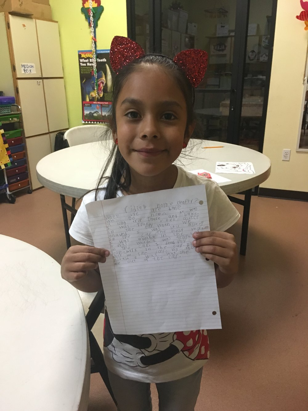 Zoe is 7 years old and looks forward to creative writing lessons every week!