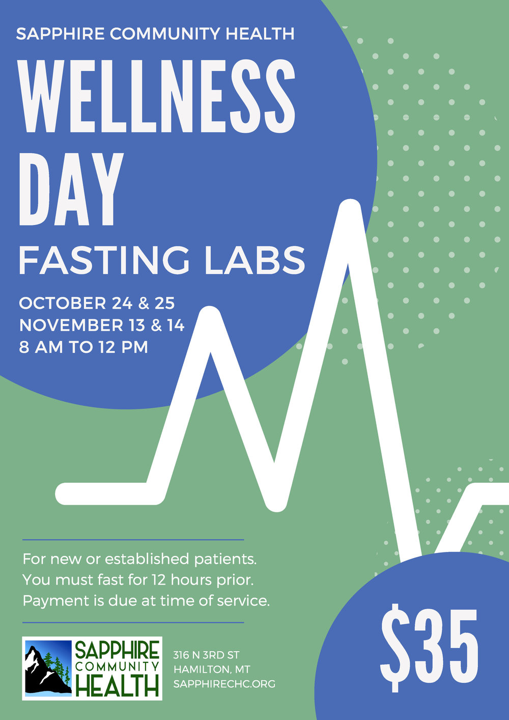 Sapphire Community Health Wellness Day Fasting Labs 2018