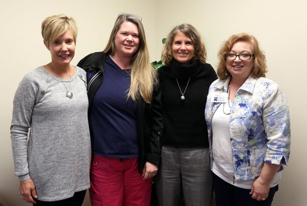 Sapphire Community Health Center's mental health team includes Susan Devine, Chris Crites, Deb Eckheart and Tamera Klapwyk.