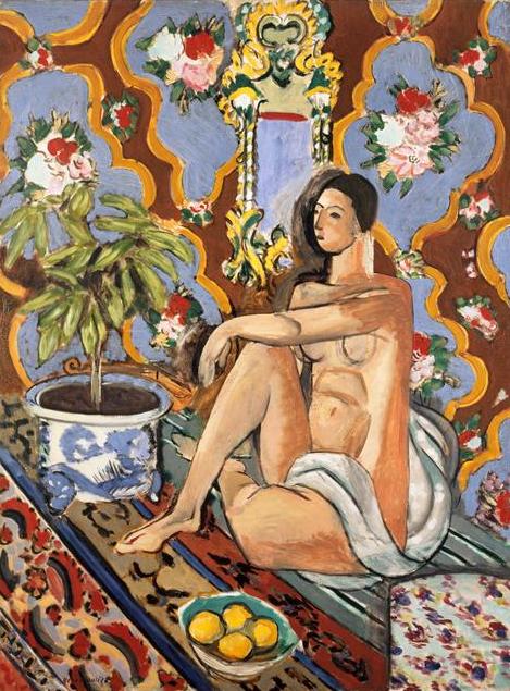 Henri Matisse - Figure décorative sur fond ornemental - 1925