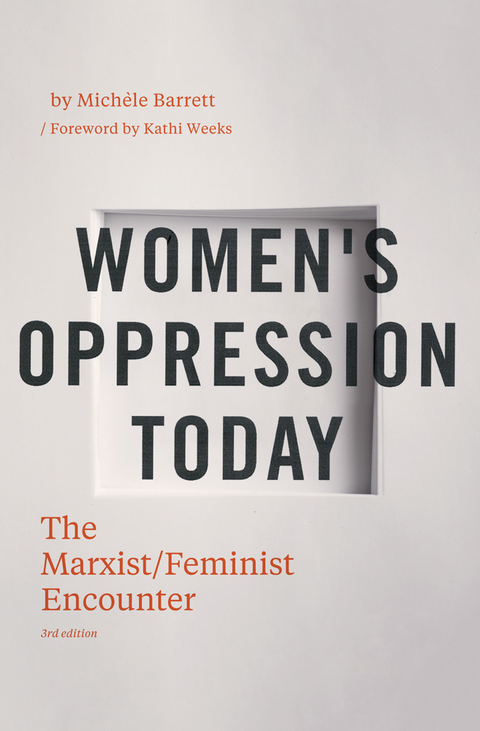 """""""Women's Oppression Today  is a classic text in the debate about Marxism and feminism, exploring how gender, sexuality and the """"family-household system"""" operate in relation to contemporary capitalism.  In this updated edition, Michèle Barrett surveys the social and intellectual changes that have taken place since the book's original publication, and looks back at the political climate in which the book was written."""""""