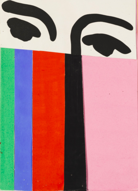 "Henri Matisse   ,    Design for cover of exhibition catalogue ""Henri Matisse"" (1951),    MoMa"