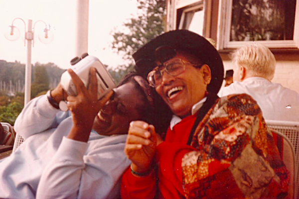Photograph of Dr. Gloria Joseph with Audre Lorde courtesy of    Tagg Magazine