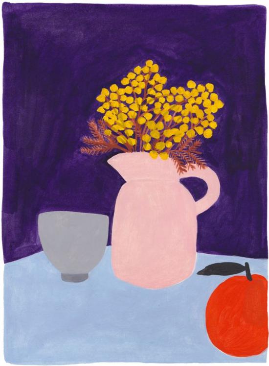 """Illustration courtesy of Léa Maupetit - """"Blue still-life"""""""
