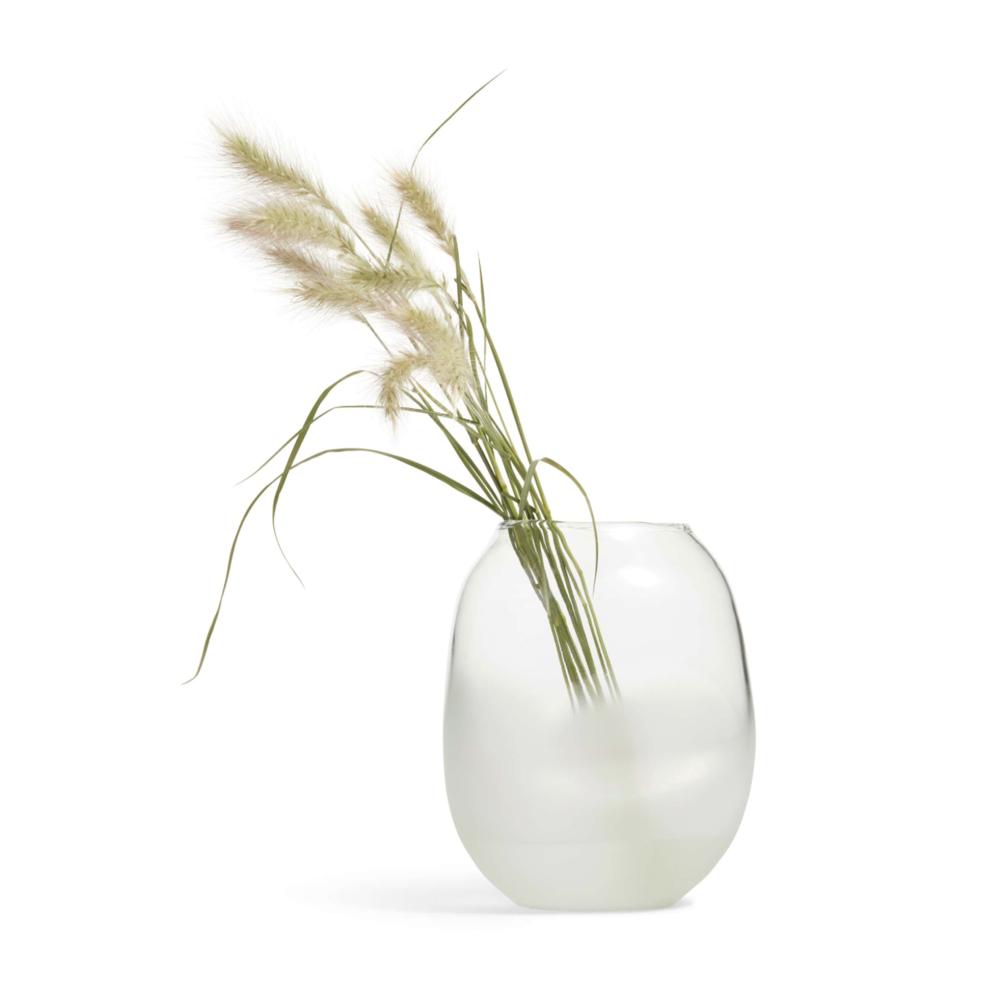 Frosted Jar Vase