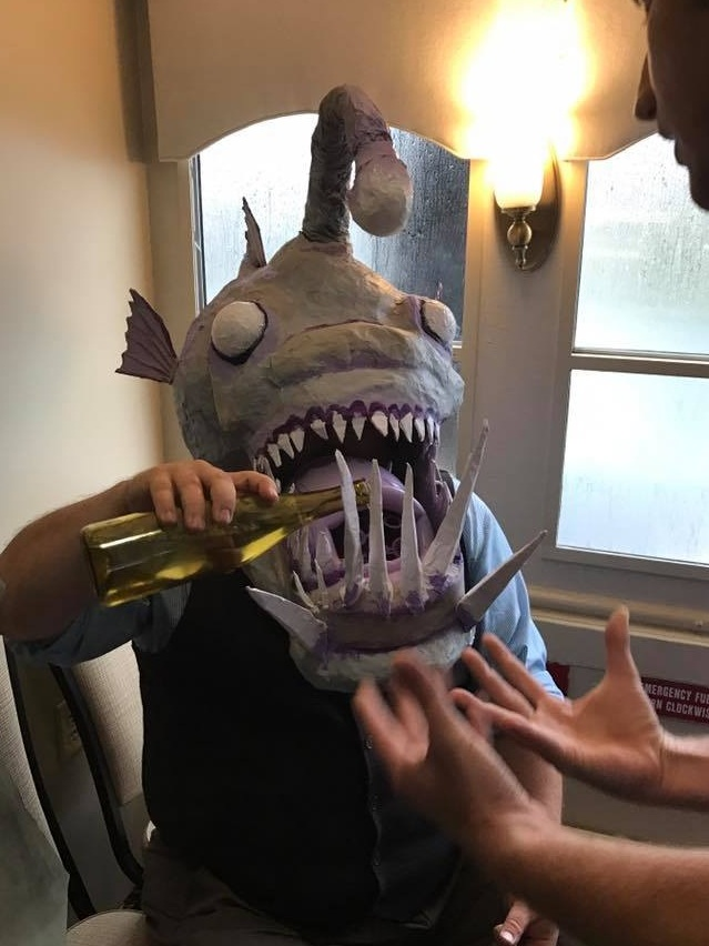 Angler Fish Mask for Piccolo Spoleto Puppet Cruise.