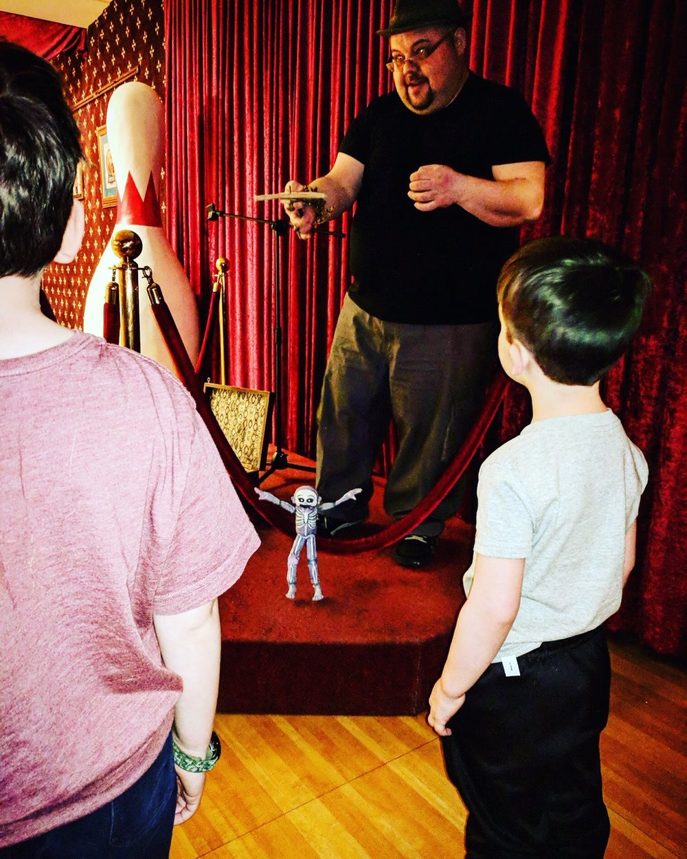 Party Music Puppet DJ - For a few months Dave played party tunes and made puppets dance for bowling families at Arsenal Bowl in Lawrenceville. That turned into a really fun time! He is available to Puppet DJ parties!