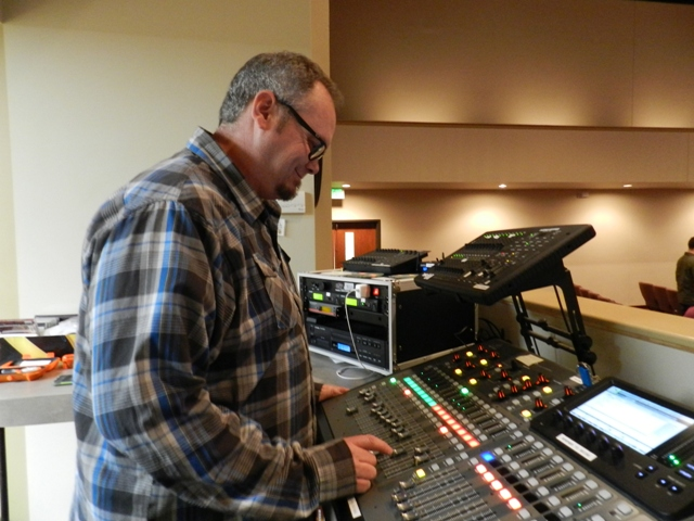 Our Sound Department is amazing.  We appreciate all the work that goes into our visuals and sound at all our church functions.  These church members are a blessing!