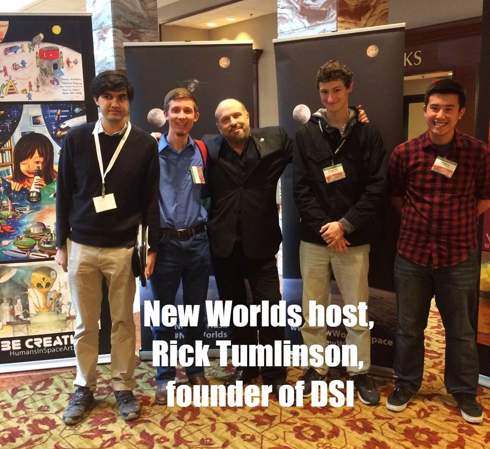 Several UT SEDS members attended the 2017 New Worlds Conference and met up Rick Tumlinson, founder of Deep Space Industries, the New Worlds Institute, and the Space Frontier Foundation.