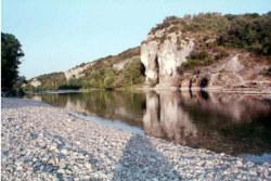Gard River at Sunset