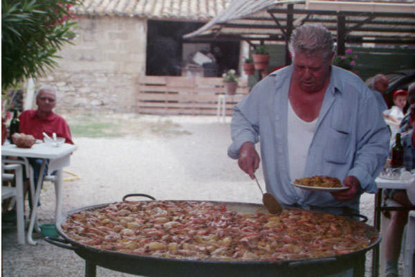 Paella at the Farm