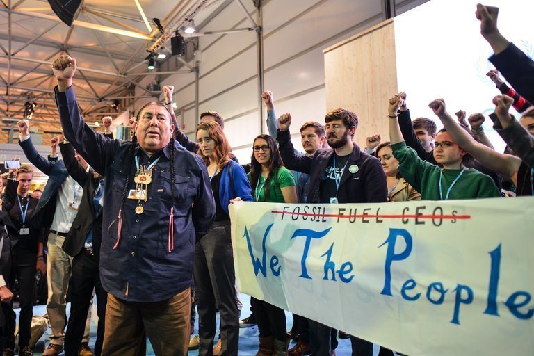 Protesters Jeer as Trump Team Promotes Coal at U.N. Climate Talks