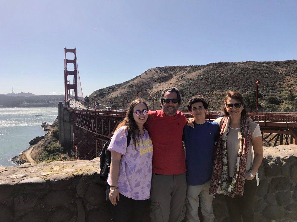 En familia, en San Francisco.
