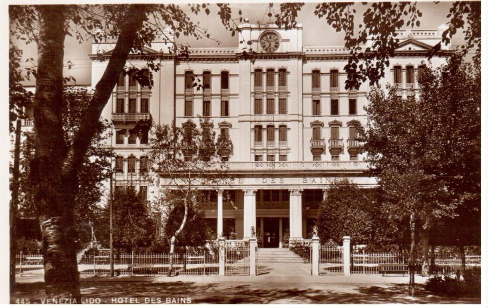 Una postal del  Grand Hotel Des Bains  en sus años mozos.