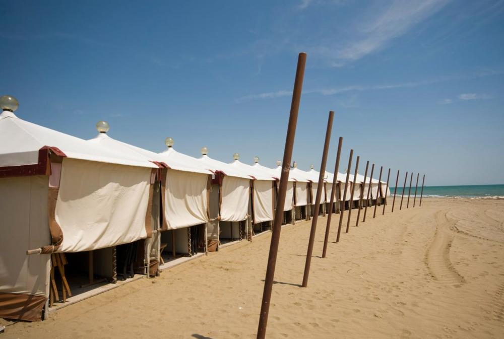 Las playas del Lido, refugio veraniego de los venecianos y meca de los amantes del cine.