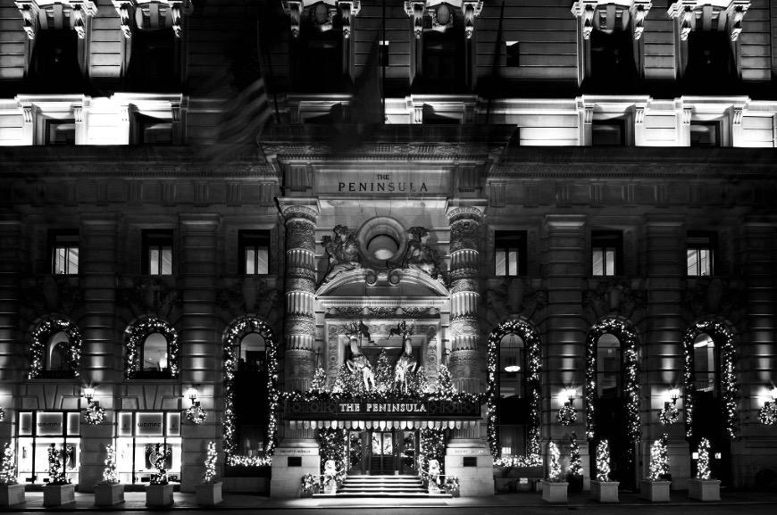 El hotel Peninsula, en la elegante esquina de la 55 y la Quinta Avenida.
