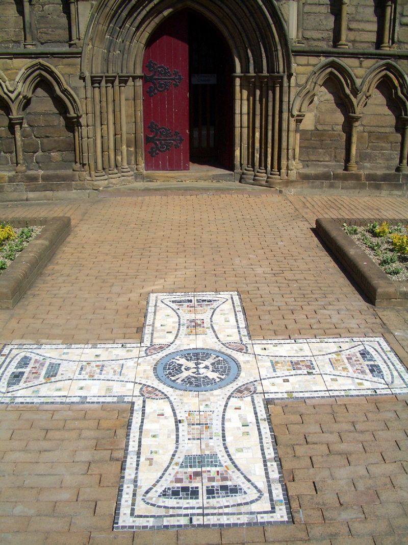 st cuthberts cross mosaic 2007.jpg