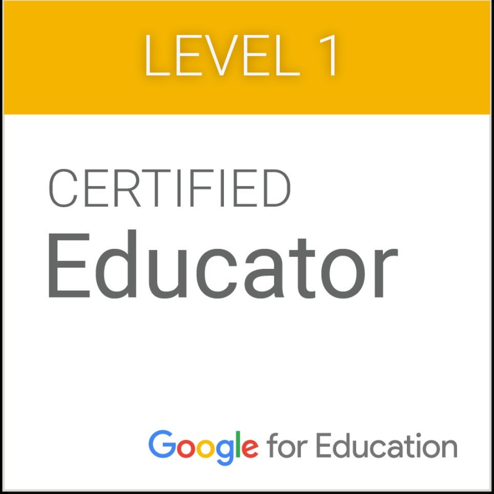 Yippy!  - One of my greatest accomplishments is starting the Google Certified Educator journey. As a Google Certified educator I am able to make a stronger impact on my school community by sharing the wisdom I have learned; teaching other educators how to engage with students and grow their capacity to be college and career ready. Google For Education allows students to have real-world learning experiences such as Project-based Learning, individualized instruction using HyperDocs and virtual chats and trips around the world!