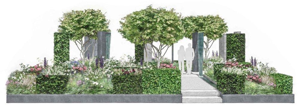 contemporary rose garden RHS chelsea flower show.jpg