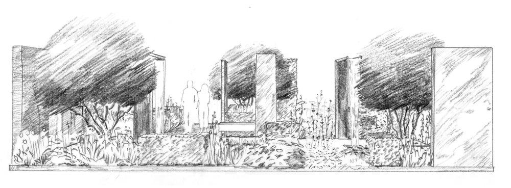 modern rose garden and colonnade.jpg