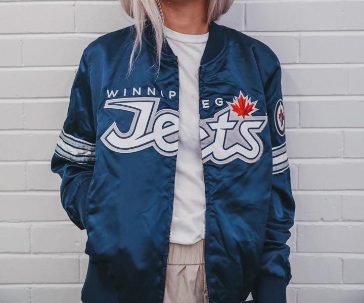 Vintage Starter Winnipeg Jets Bomber 4e623e055