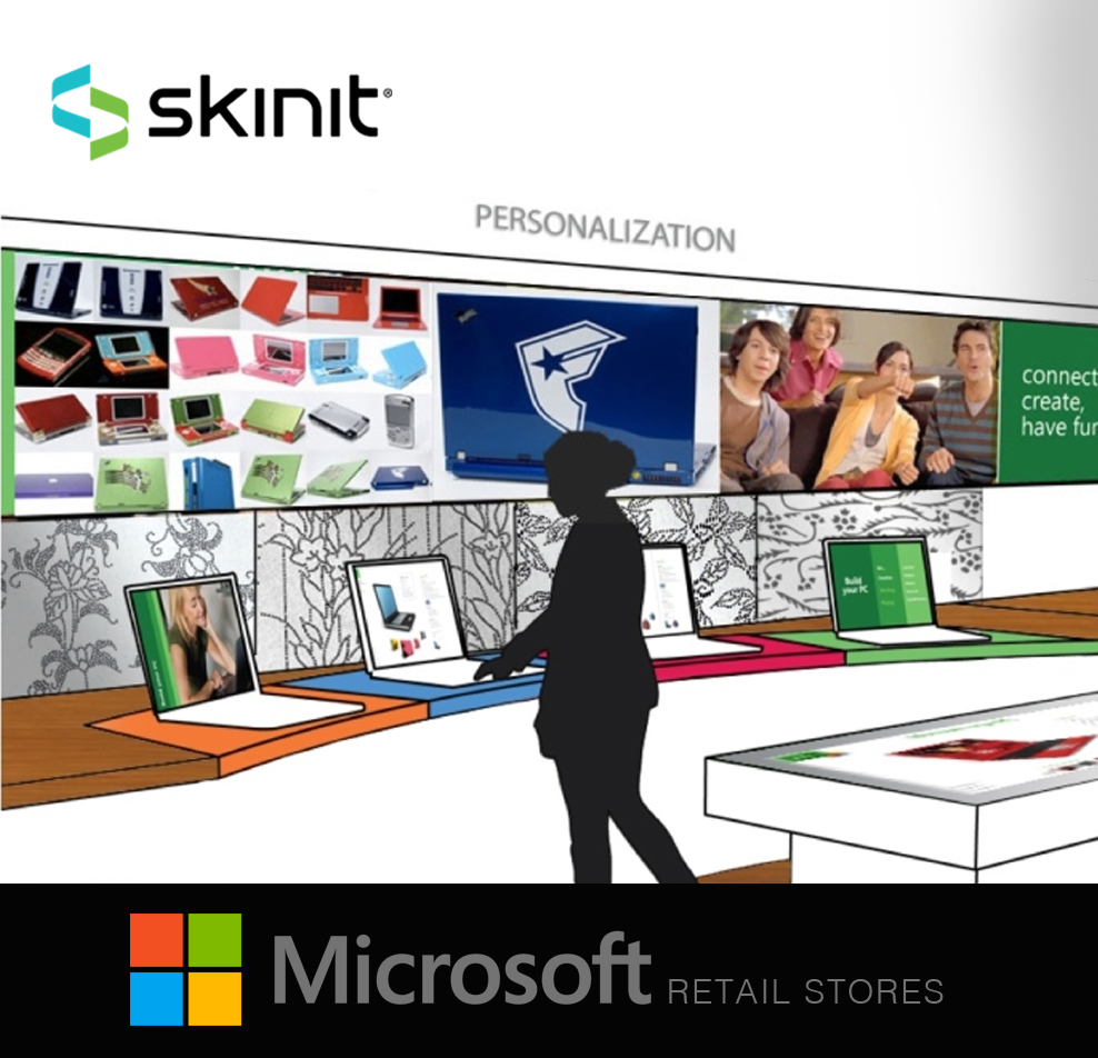 Interactive RetailExperiences - Developed the first in-store retail personalization business model for the Microsoft Stores. Lead design initiative to develop a system to print/produce personalized adhesive skins at Microsoft retail store locations.