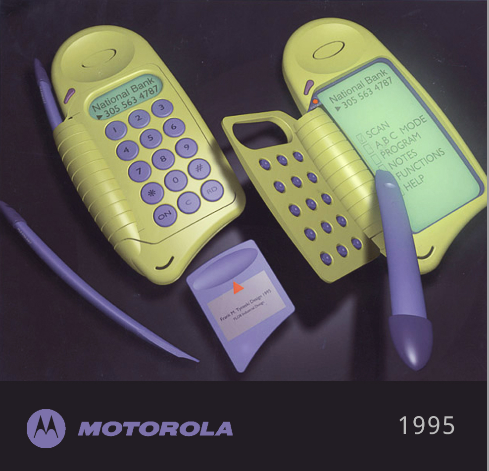 Inventor / Patent Generator - More than 80 patents – including Patent of the Year for Motorola's TalkAbout two-way radio. The image shows a mechanical multi-function user interface patent, referenced on Motorola's award winning NEXTEL / IDEN i1000.