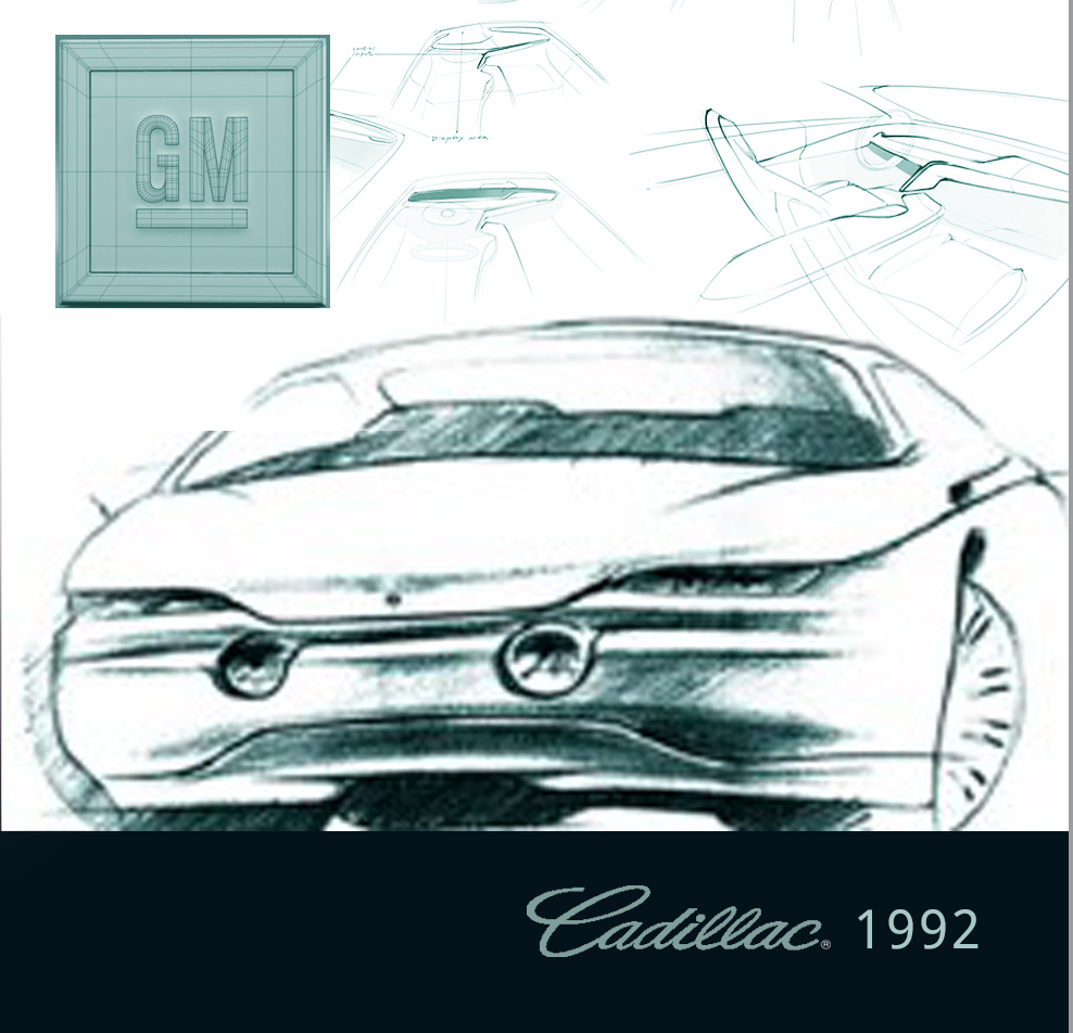 Transportation Design | GM - Designed sculptural transportation solutions with desirable proportions, an appropriate stance and punctuated details that generated an emotional expression. NOTE: The image displays sketch simulations / not for Cadillac. GM's Advanced Studio Five did not release the work.