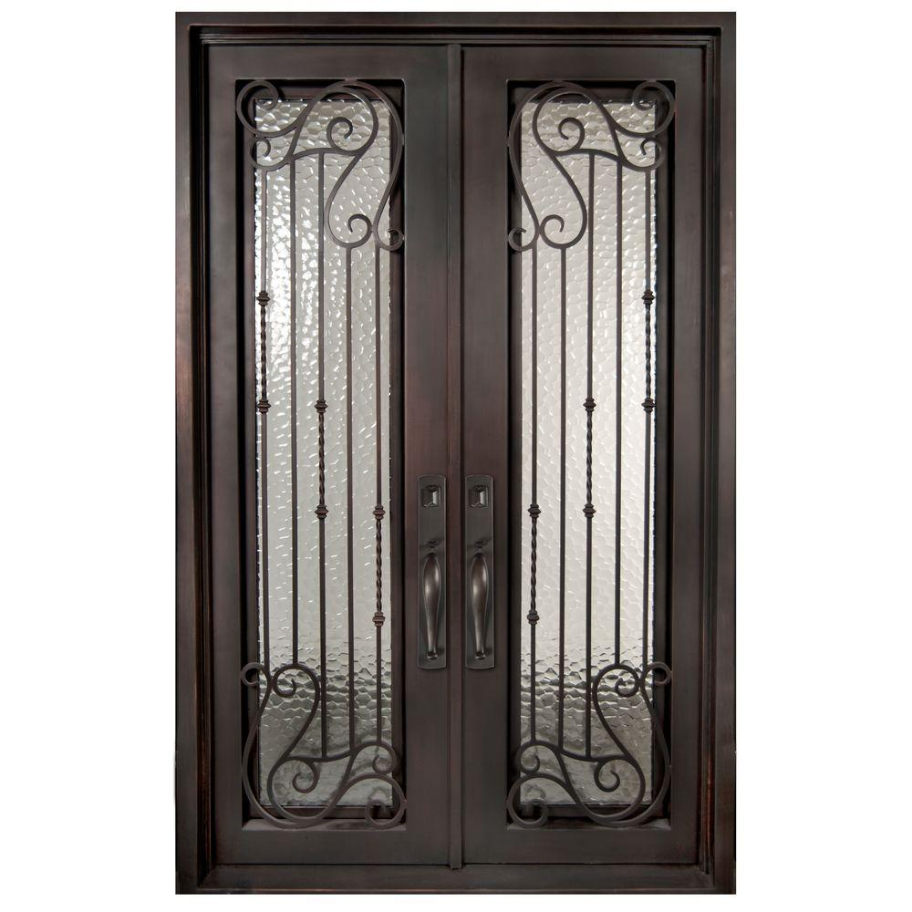 Wrought Iron + Glass Insert -