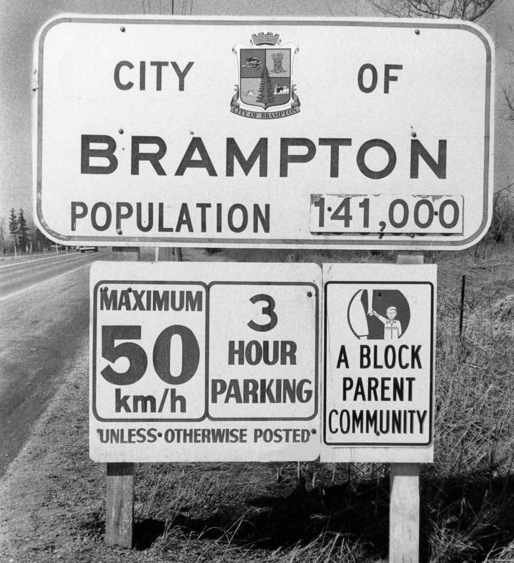 Historic Sign in Brampton