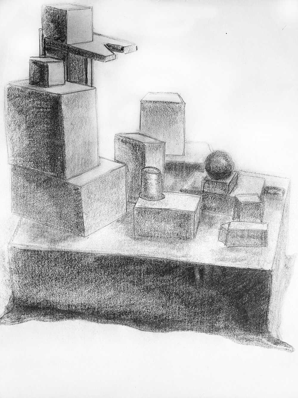 Sizing/Shading Study - Beginning Drawing