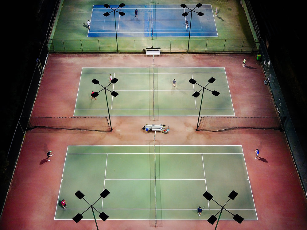 Tennis courts, Piedmont, California