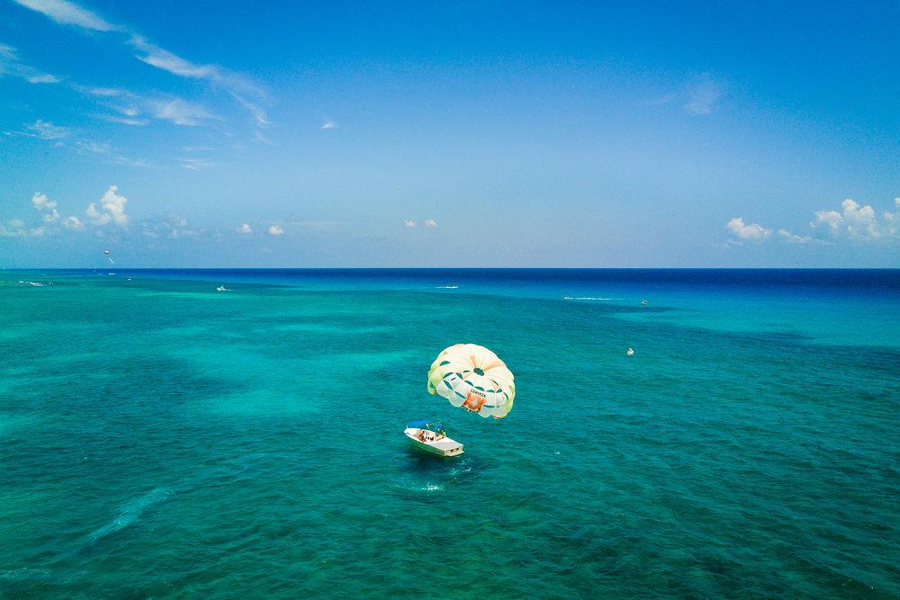 Lonely boat, Playa del Carmen, Mexico