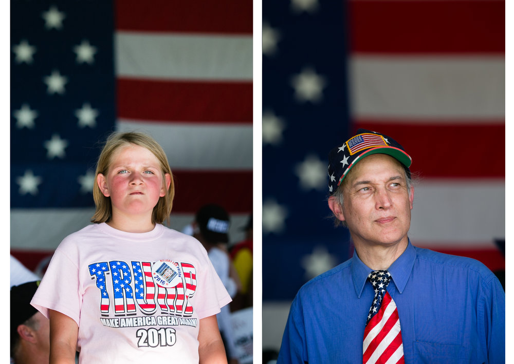 Trump supporters, Sacramento, California, for Getty Images