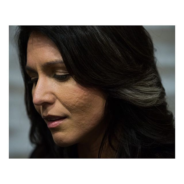 U.S. Representative and Democratic Presidential hopeful @tulsigabbard speaks at a campaign event in Des Moines, Iowa. February 23, 2019. More at archive.reduxpictures.com. #tulsigabbard #election2020 #election #politics #campaign #democrats @reduxpictures