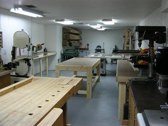 Wood working room.