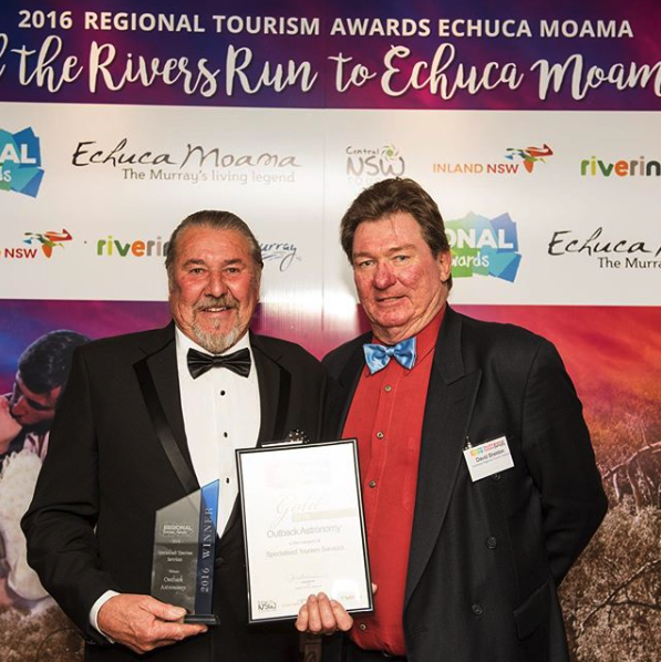 Outback Astronomy - Gold (Specialised Tourism Services) - Accepted by Peter (Silverton Hotel)
