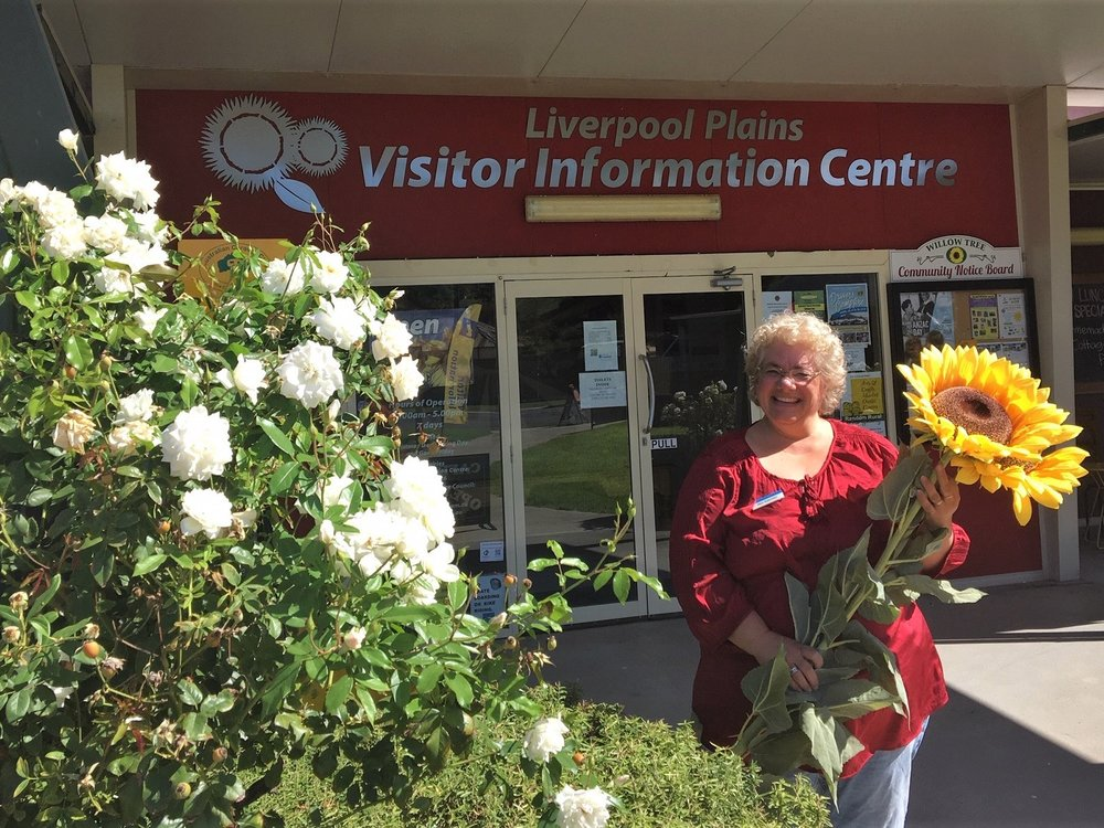Nikki Robertson, Manager of the  Liverpool Plains Visitor Information Centre